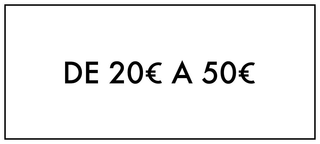 De 20€ até 50€